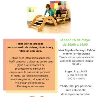 Charla-taller Integración sensorial S 25 de Mayo